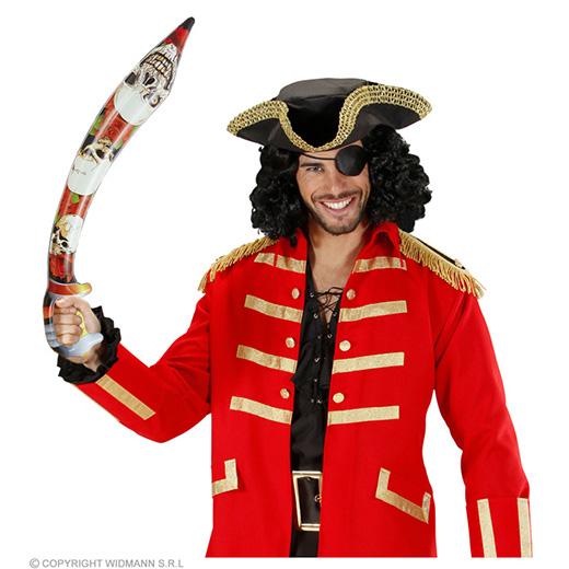 opblaasbaar piratenzwaard, 75cm