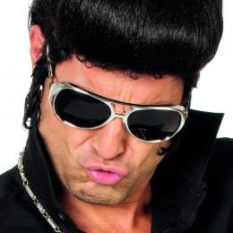 Bril Elvis zilver