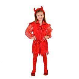 Halloween jurkje duivel rood