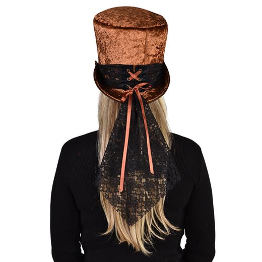 Hoge hoed bruin