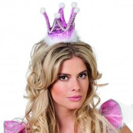 Kroon prinses stof rose