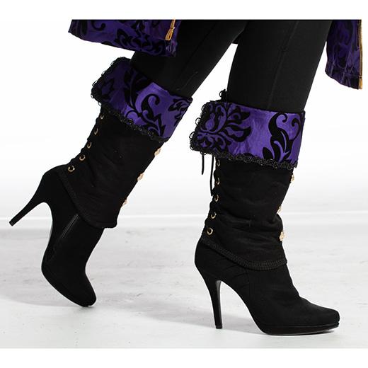 Beenkappen zwart met paars