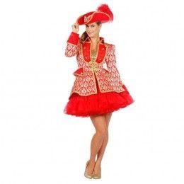 Luxe damesjasje jaquard rood