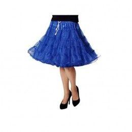 Petticoat luxe kobalt blauw