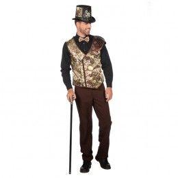 Steampunk vest heren