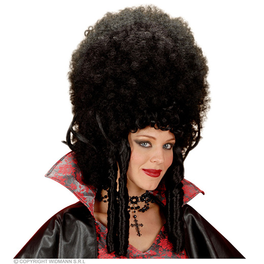 pruik, madame bovary zwart