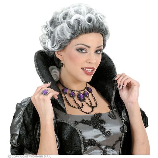 pruik, gothic met krullen