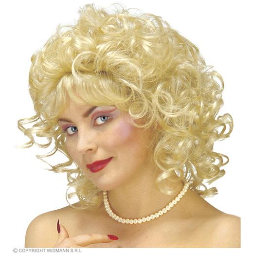 pruik, milly blond (in plastic doos)