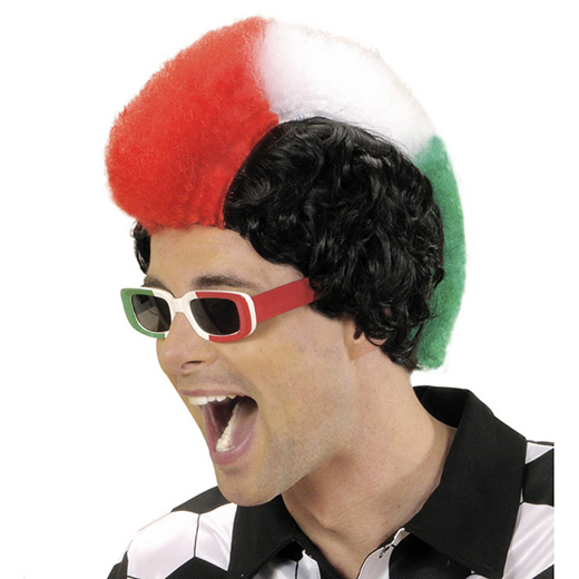 pruik, supporter italië man