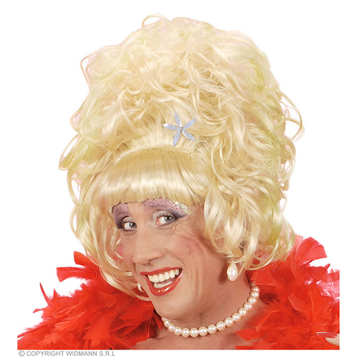 pruik, drag queen blond