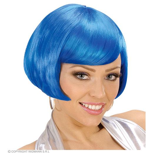 pruik, valentina blauw