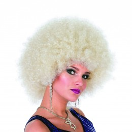 Afro kleine krul blond
