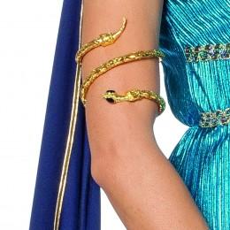Armband slang met strass