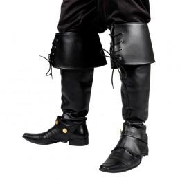 Beenkappen piraat zwart