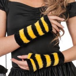 handschoenen geel zwart vingerloos