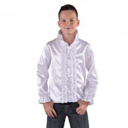 Ruches blouse wit