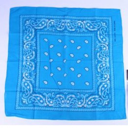 Boeren zakdoek turquoise