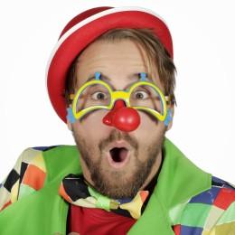 Bril met clownsneus