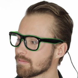 Bril met licht, groen