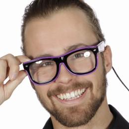 Bril met licht, paars