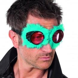 Pilotenbril met pluche blauw