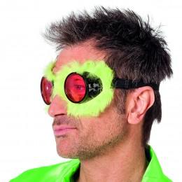 Pilotenbril met pluche geel