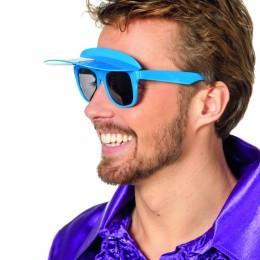 Bril met zonneklep blauw