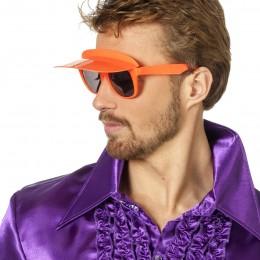 Bril met zonneklep oranje