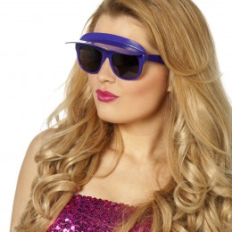 Bril met zonneklep paars