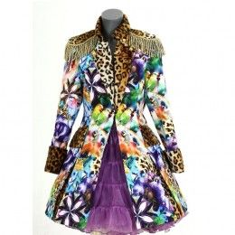 Carnavalsjasje luxe panterprint purple ang