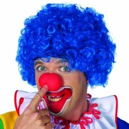 Clowns pruik blauw