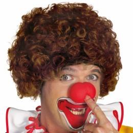 Clowns pruik bruin