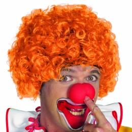 Clowns pruik oranje