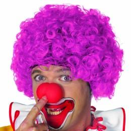 Clowns pruik roze
