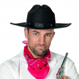 Cowboyhoed met studs
