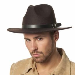 Cowboyhoed wolvilt bruin