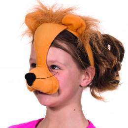 Dierenmasker met geluid leeuw