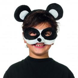 Dierenmasker met tiara panda
