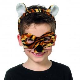 Dierenmasker met tiara tijger