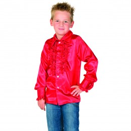 Ruches blouse rood