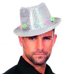 Gangsterhoed met LED zilver