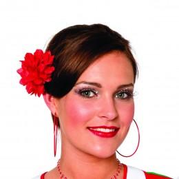 Haarclip bloem mini rood