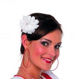 Haarclip bloem mini wit