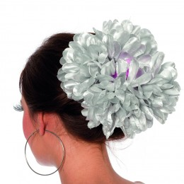 Haarclip bloem zilver