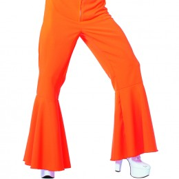 Hippie broek bi-stretch neon oranje