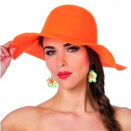 Dameshoed golvend oranje