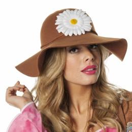 Hippiehoed met bloem