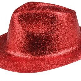 Glitterhoed rood