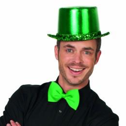 Hoge hoed paillettenband groen