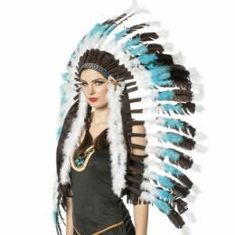 Indianentooi groot blauw-zwart-wit